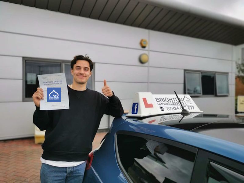 Billy passes driving test with Brighton driving Lessons