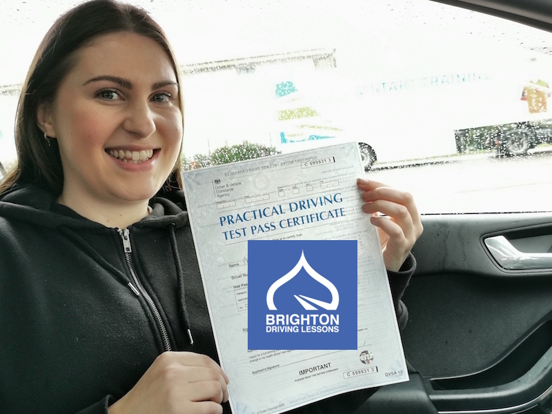 Charlotte passes her driving test with Brighton Driving Lessons