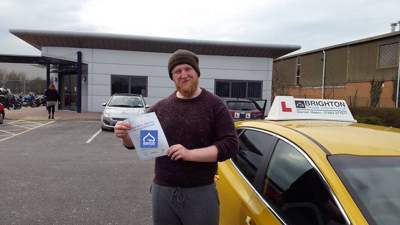 Daniel passes driving test with Brighton Driving Lessons