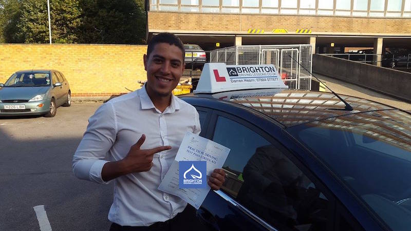 eder passes driving test with Brighton Driving Lessons