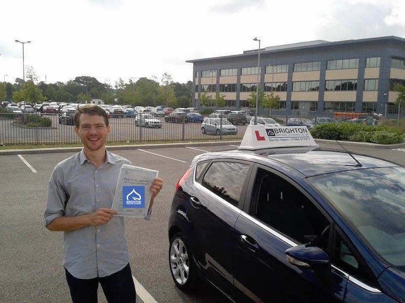Ewan passes driving test with Brighton Driving Lessons