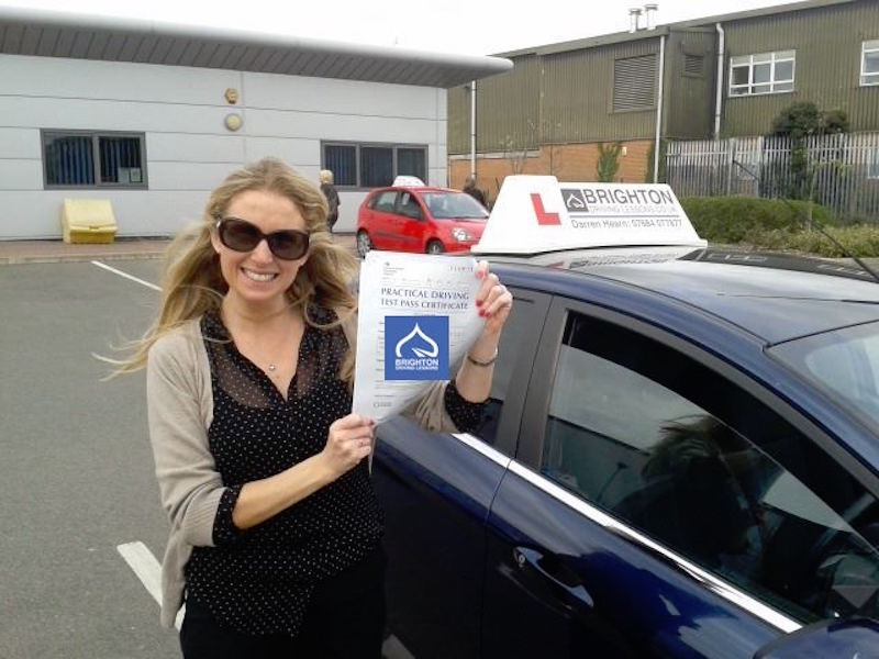 Fionnuala passes driving test with Brighton Driving Lessons