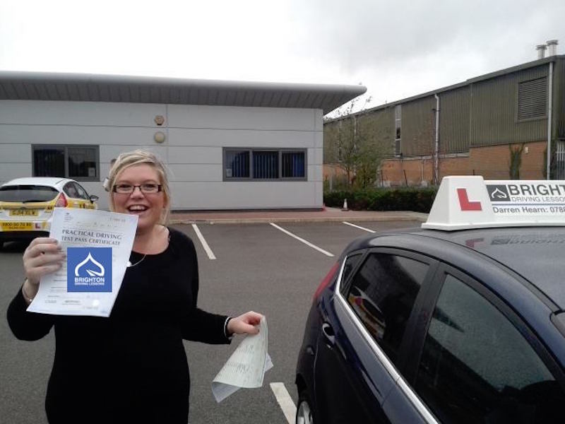 Jade passes driving test with Brighton Driving Lessons