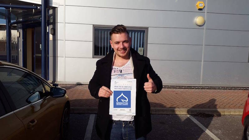 Jaden passes test with Brighton Driving Lessons