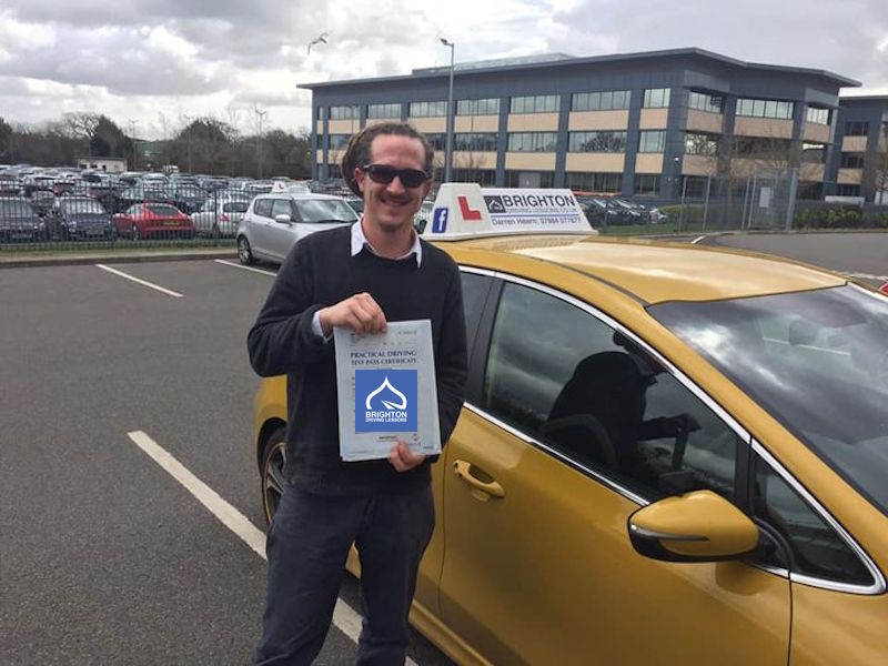 Jamie passes driving test with Brighton Driving Lessons