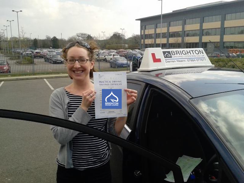 Jennifer passes driving test with Brighton Driving Lessons