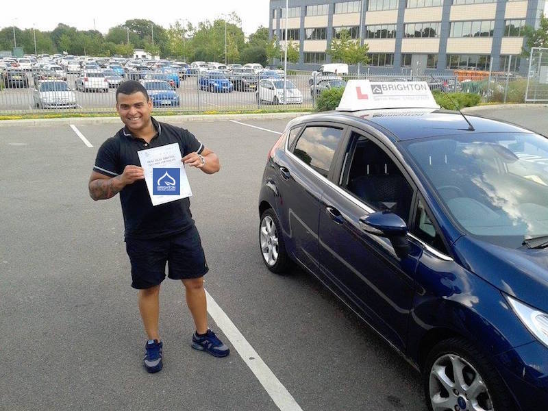 Luis passes driving test with Brighton Driving Lessons