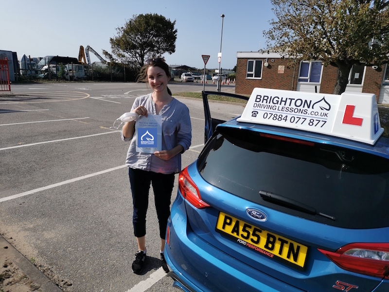 Monika passes driving test with Brighton Driving Lessons