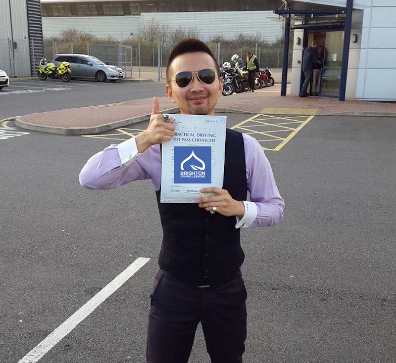 Po passes test with Brighton Driving Lessons