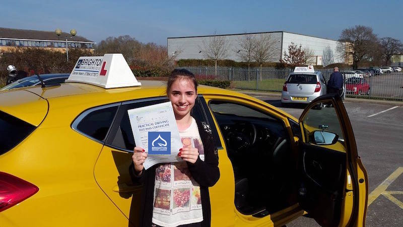 Rachel passes driving test with BrightonDriving Lessons