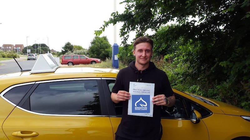 Robin passes test with Brighton Driving Lessons
