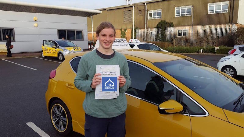 Solomon passes his test with Brighton driving Lessons