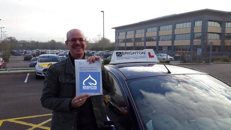 Steve passes driving test with Brighton Driving Lessons