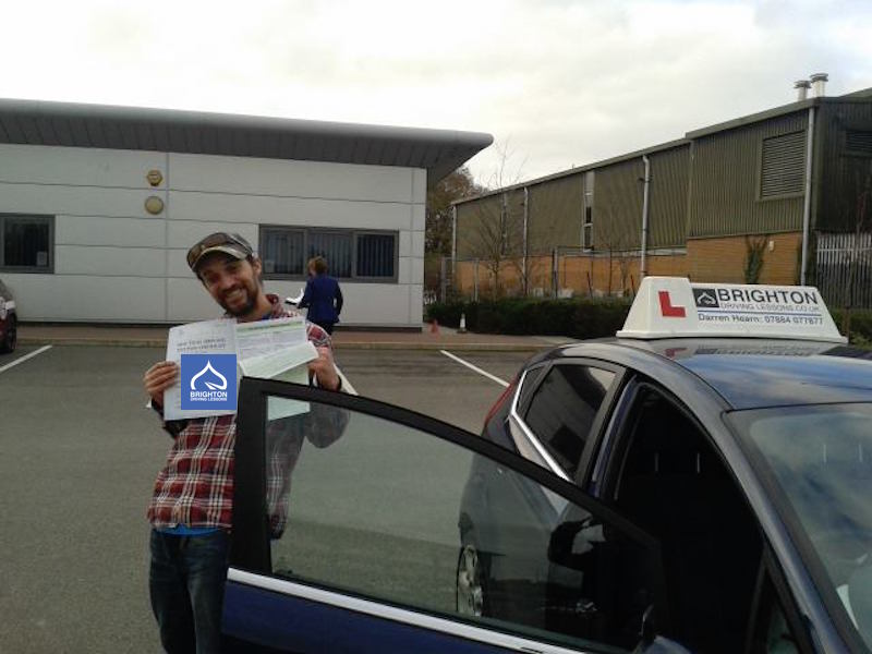 Zack passes driving test with Brighton Driving Lessons