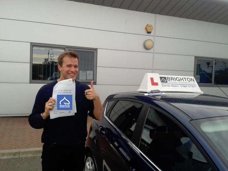 Edwin passes driving test with Brighton Driving Lessons