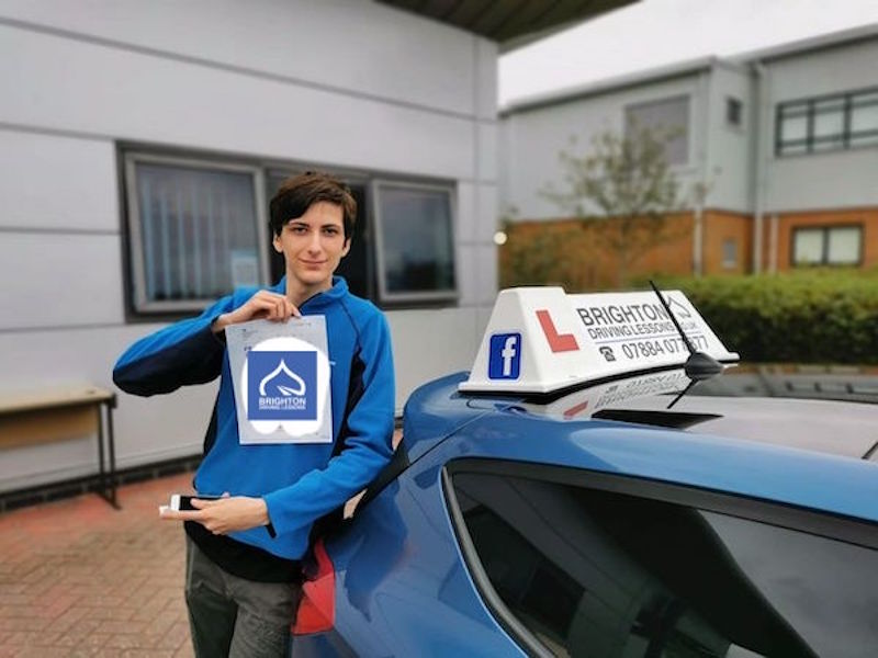 Alex passes driving test with Brighton Driving Lessons