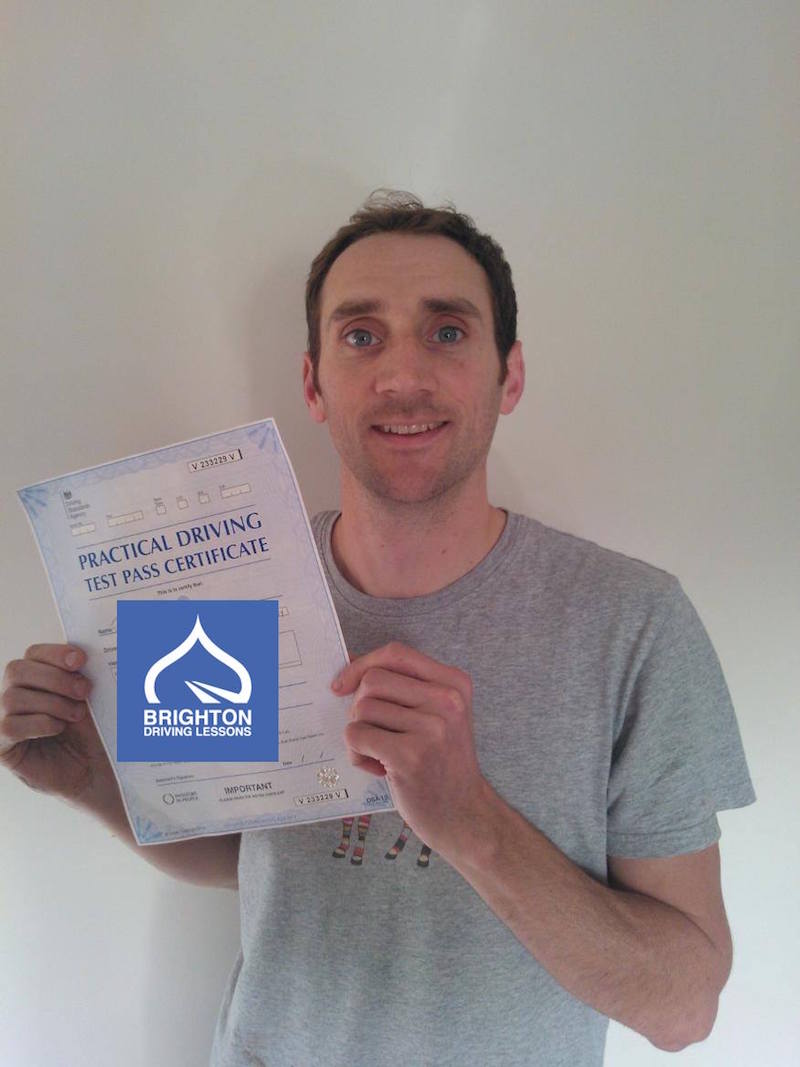 Jeff passes driving test with Brighton Driving Lessons