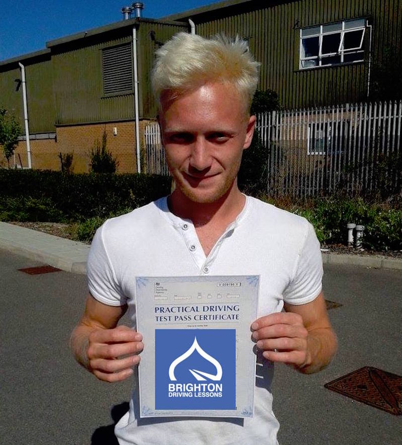 Luke passes driving test with Brighton Driving Lessons