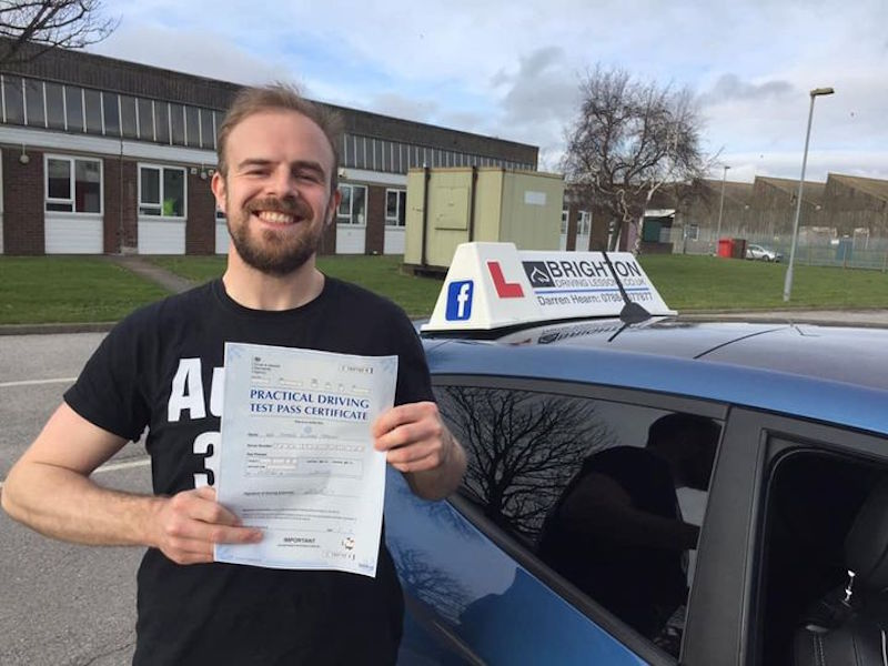 Sam passes driving test with Brighton Driving Lessons